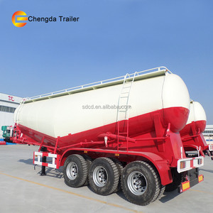 40ton 50ton 60ton widely used tri-axle dry bulk cement silo truck for sale