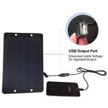 Waterproof Solar Panel Charger and Powerful 6W Foldable Solar Panel for Mobile Phone