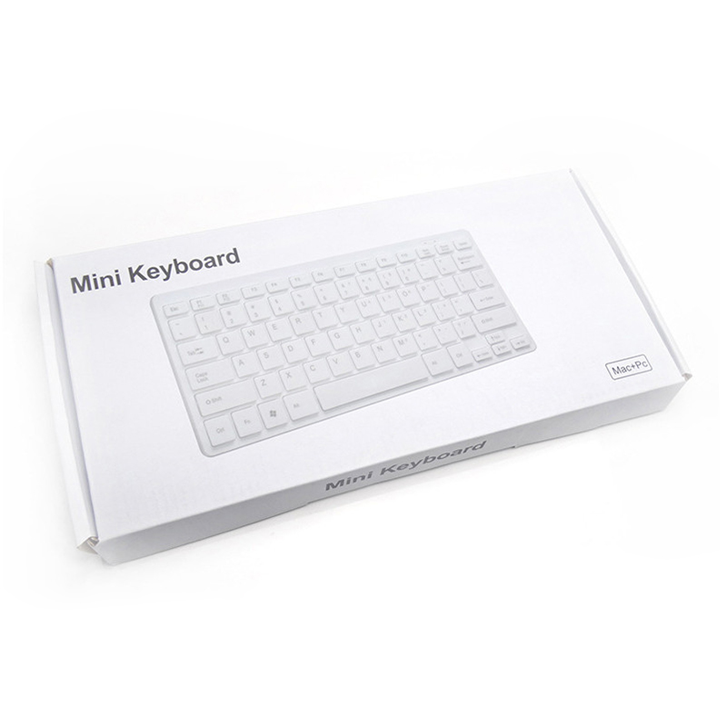 2021 Slip White Color 2.4Ghz Drivers Usb Wireless Roller Mini Keyboard