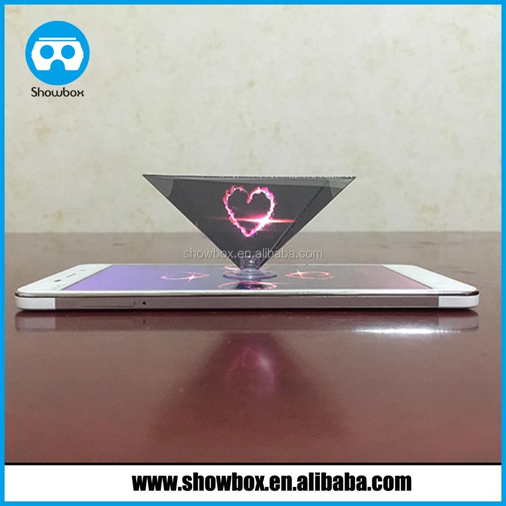 Premium 3d hologram projector reverse pyramid for phones for Best mini projector for powerpoint presentations