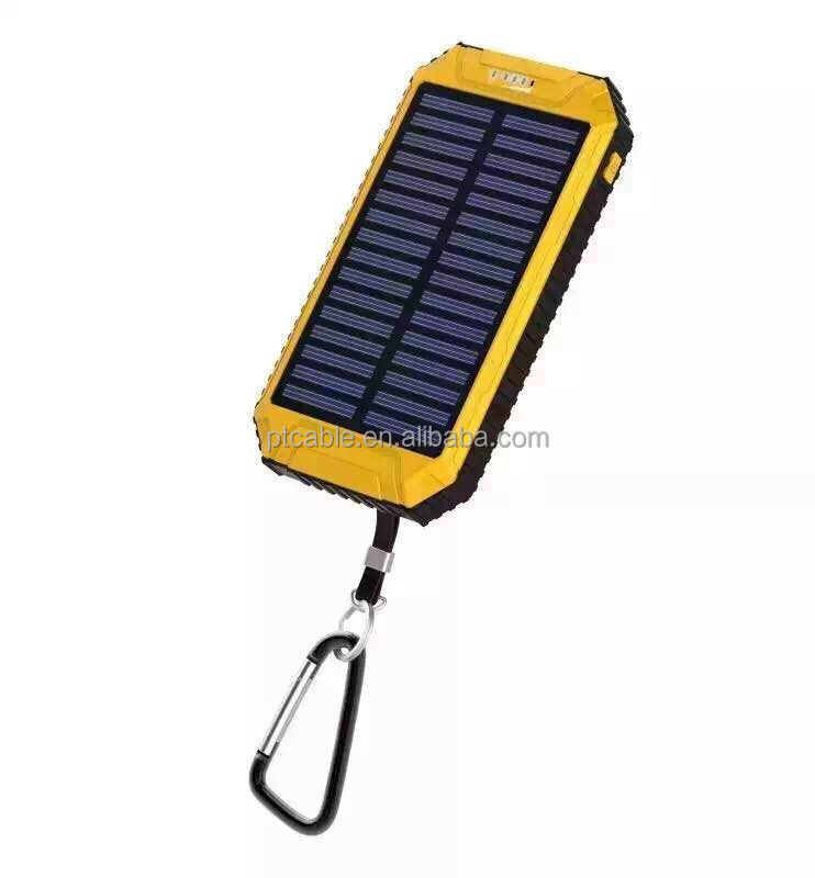 Solar Power Bank Charger Customized 8000mah Solar Mobile Charger Usb Portable Power