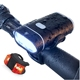 Super Bright CREE LED Bicycle Light Set,Free Silicone Bike Tail Light,Quick Release Mounting 800lumens USB Bike Light