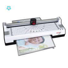 Office gebruik hot/koud lamineren machine met hoek cutter en foto <span class=keywords><strong>trimmer</strong></span>