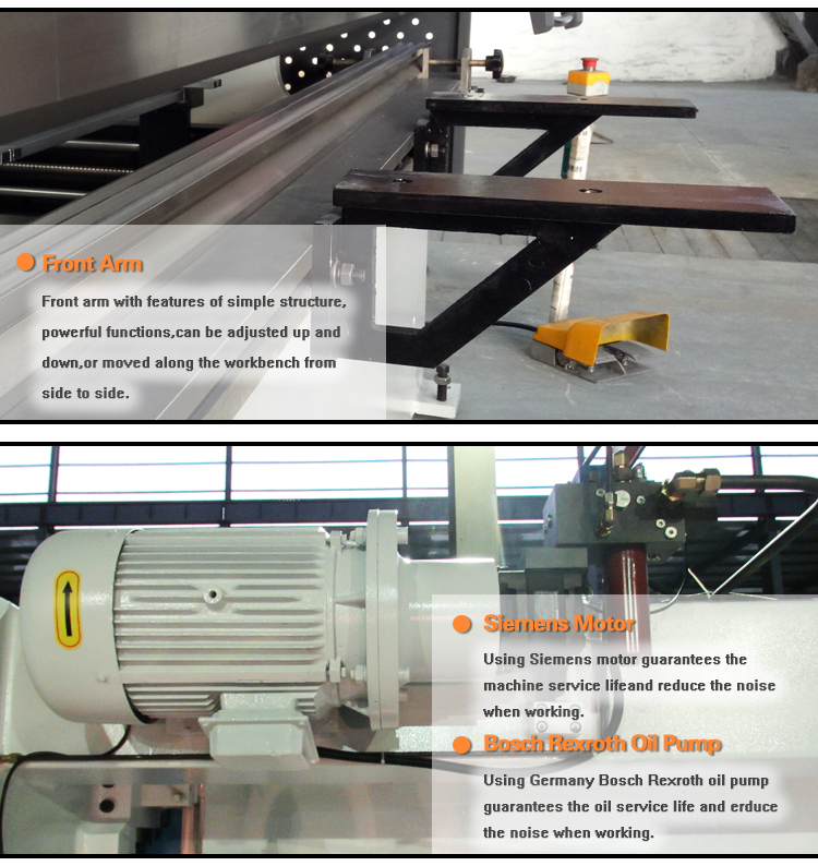 CNC hydraulic press brakes for metal sheet bending bending machine