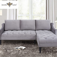 Living room sectional sofa furniture factory one piece MOQ fabric upholstered lounge suite