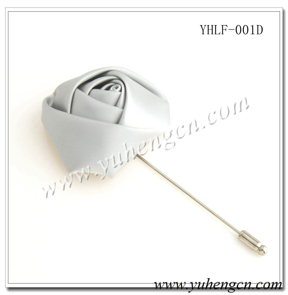 YHLF-001D Elegant Beige Rose Flower Pins,Lapel Flowers,Brooches