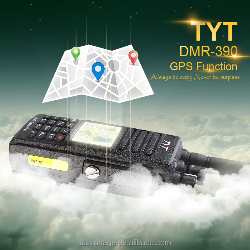 Professional Walkie Talkie DMR Radio TYT MD-390 with GPS function