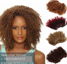 Short ombre brading hair extension afro kinky curly bug brown natural brazilian weave hair styles picture shortcurly hairstyles