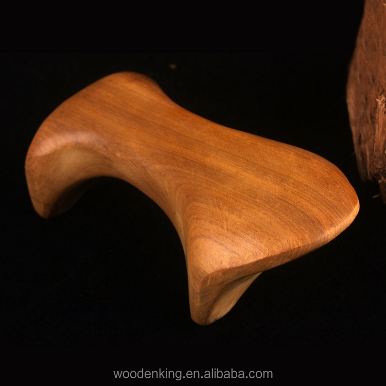 Custom LOGO Vietnamese Handicraft Items Wooden Dog Hand Pressure Point Massager Wood Massage Tools