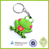 Promotional wholesale hot sale soft PVC rubber frog keychain