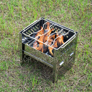Low MOQ Portable Stainless Steel Wood Burning Camping Stove