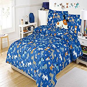 Buy 4 Piece Kids Twin Dog Themed Comforter Set Puppy Bedding For