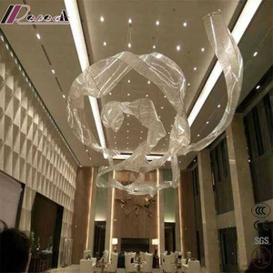 Zhongshan Guzhen Modern SMD5050 LED strip light twisted lace hotel project pendant lamp