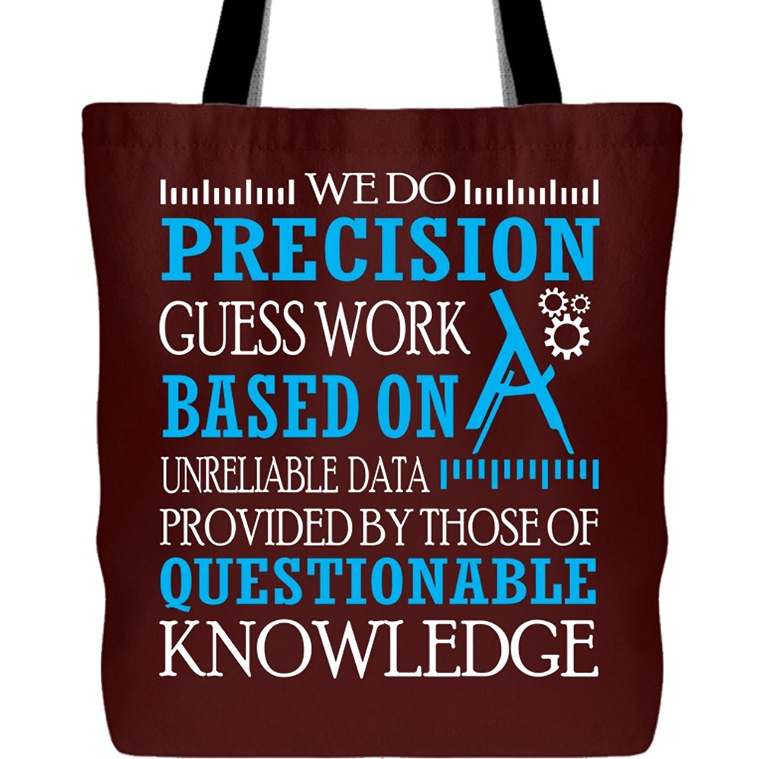 4d2e13171a01 Get Quotations · We Do Precision Guess Work Tote Bags