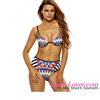 Www Sexy Photo.com Tribal Print High Waist Open Sexy Girl Full Swimsuit Photo