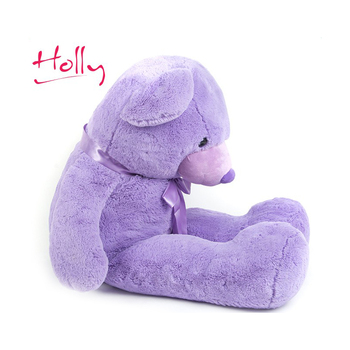 Purple High Quality Best Selling beautiful purple color plush teddy bear toy