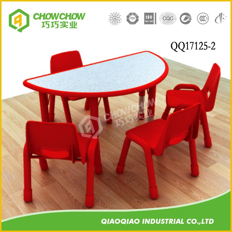 Los niños muebles de madera forma de semicírculo Mesa (no incluyendo ...