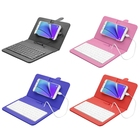 ENKAY Wired Keyboard Leather Protective Case with Holder for Android Tablet / Android Mobile Phone