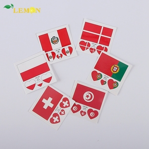 Canada Flag Face Temporary Tattoo American Country Flag Tattoo Sticker