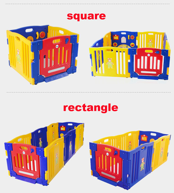 Safety Child Fence With Gate Baby Playpen Safety Baby Game Fence