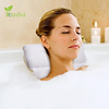 3D Mesh Waterproof Wholesale Headrest Luxury Spa Bath Pillow With Suction Cups