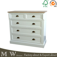 new arrival cheap white design antique chest of drawers dresser bedroom furniture