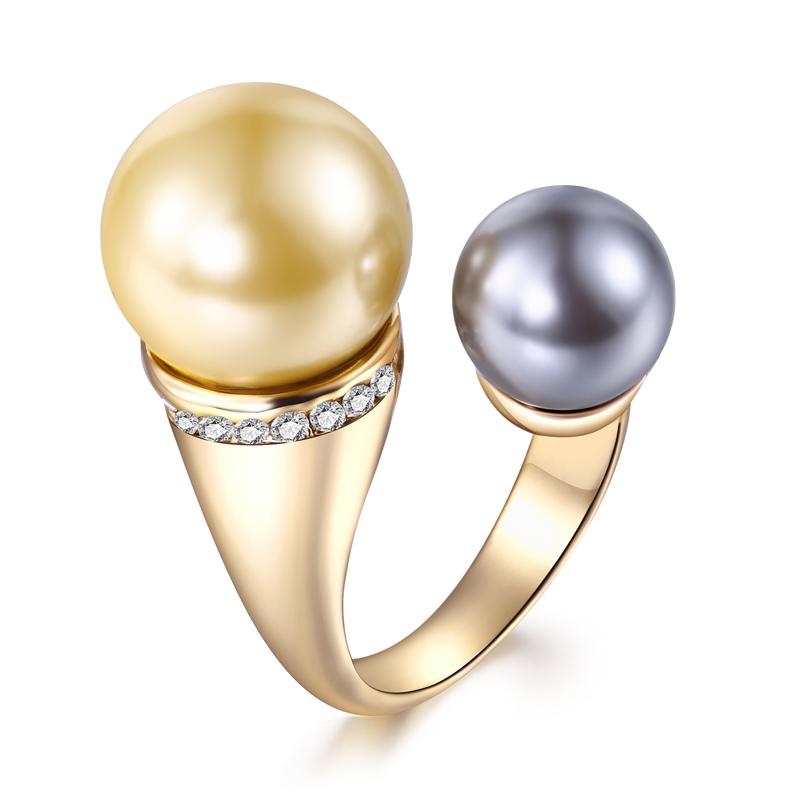 0ac62d0cc ROXI joyería de moda único platino anillo precios al por mayor púrpura  amarillo últimas perlas extremos