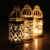 Top quality Metal wrought iron metal house shape candle holder