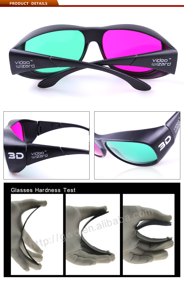 Plastic Virtual Reality 3D eyewear with 3d feelling