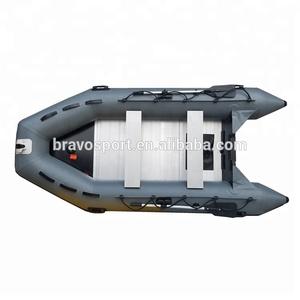 2018 (CE) China PVC 11ft Aluminium Hard Bottom Fishing Inflatable Float  Boat For Sale
