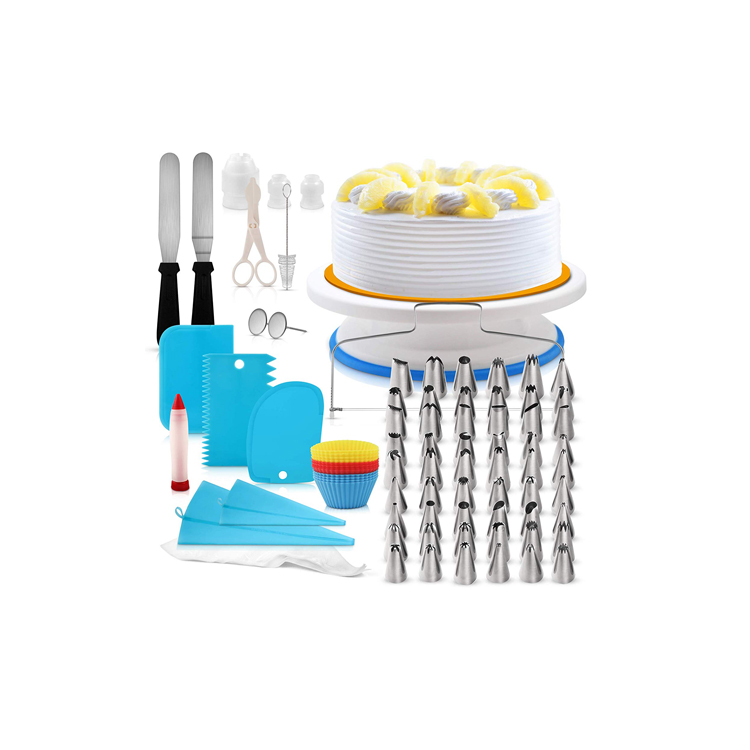 Wholesale Rotating Cake Decorating turntable set, Cake Decorating Supplies Kits Tools with Pastry Bag