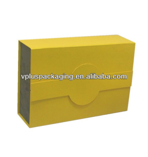 top quality rigid cardboard flip top paper box