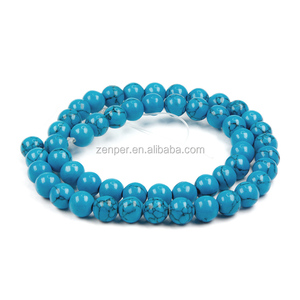 round cheap Synthesis prices turquoise stones beads for sale
