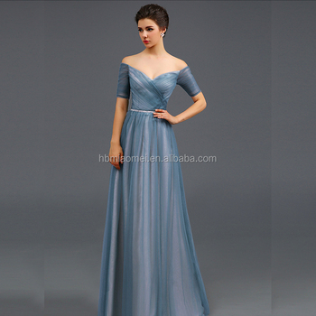 Offshoulder Formal Dress Corset Waistband Gowns Evening Dress - Buy ...
