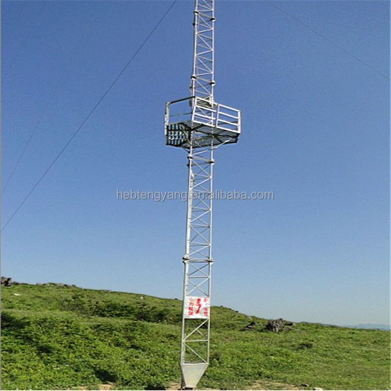 High-quality Steel Galvanized Lattice Guyed Telecom Tower