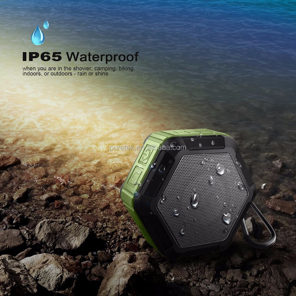 OEM Best Bluetooth Speakers of 2016 Portable Outdoor and Waterproof Bluetooth Wireless Speaker with NFC for Quick Pairing