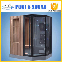 high-quality computer control panel 2 person dry & wet steam combined room for sale