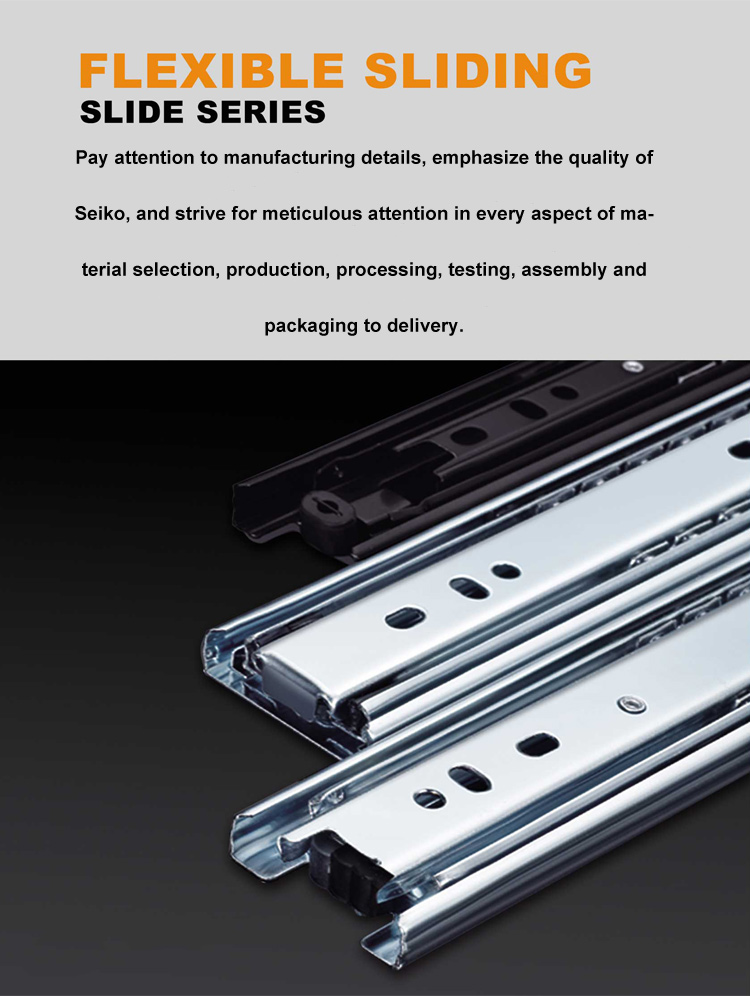 Factory Wholesale Ball Bearing Drawer Channel Slide