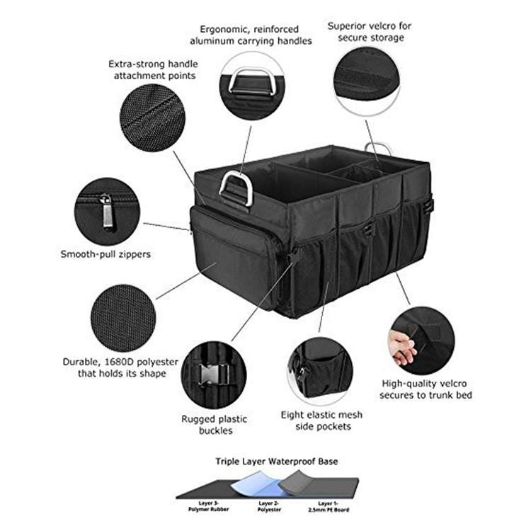 Osgoodway High Quality Wholesale Large Auto Collapsible Washable Multifunction Backseat Car Seat Organizer