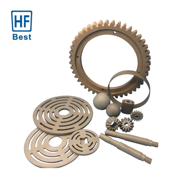 Presisi Tinggi Produsen Plastik Spur Pinion Helical Gears Disesuaikan Plastik Peralatan