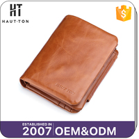 Top Brand Men's Small Genuine Top Cow Leather Wallets Vintage Leisure Style Slim Card Wallet For Men