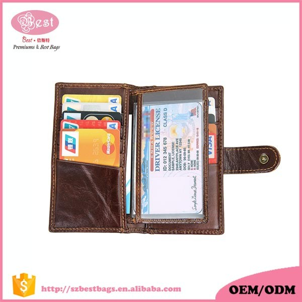 Hot Selling Fashionable Design High Quality Leather Wallet for Men