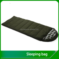 Canvas Audlt Camping Envelope sleeping bag with hood manufacture