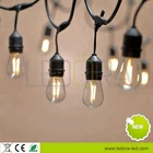 Cable Holiday Black String Light Customized S14 Globe Black Cable Holiday Led String Lights With Clear Bulbs Indoor/Outdoor String Lights Commercial Use