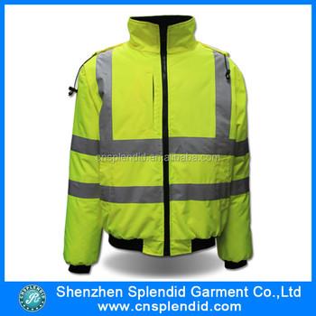 775c8f2b43e Alta visibilidad chaqueta, 3 M chaleco reflectante, ropa de trabajo chaqueta
