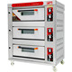 Vigevr Commercial Pizza Making Machine Gas 3 Deck Oven For Sale