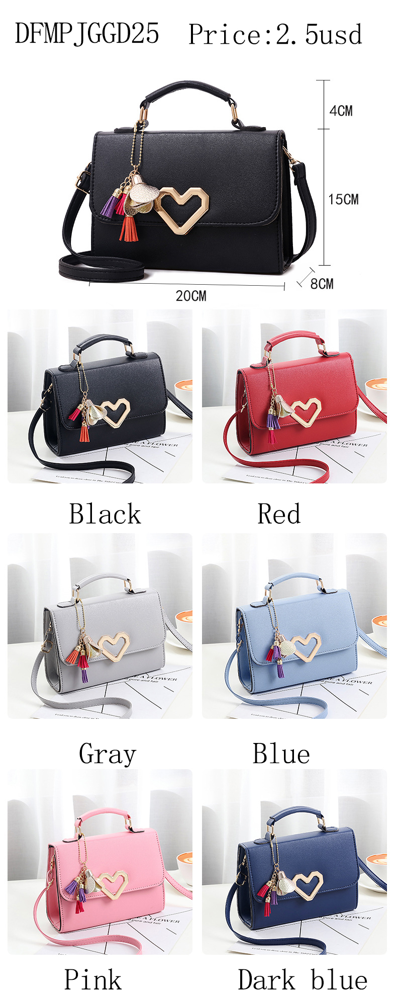 2019 Latest wholesale ladies pu leather cheap handbags for women