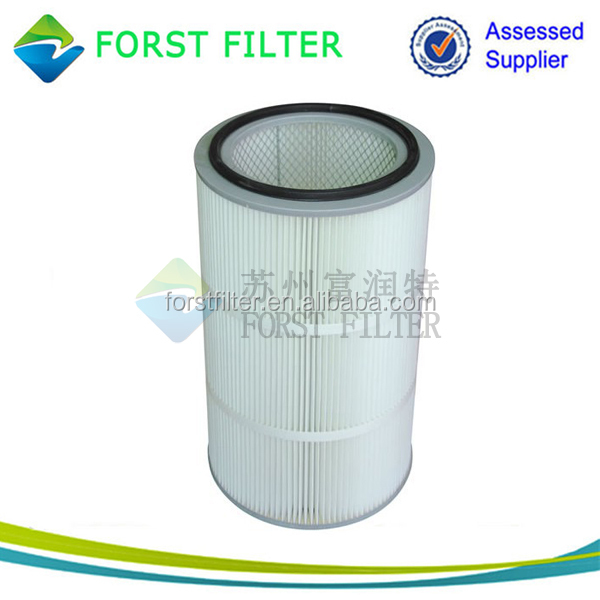Industrial Micron Pleated Air Cartridges Filter with Gasket Seal