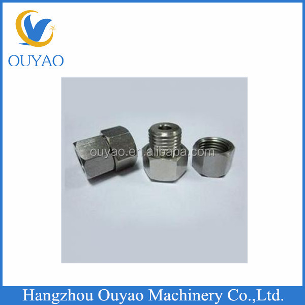 CNC Machined Stainless Steel Threaded Screw Nut