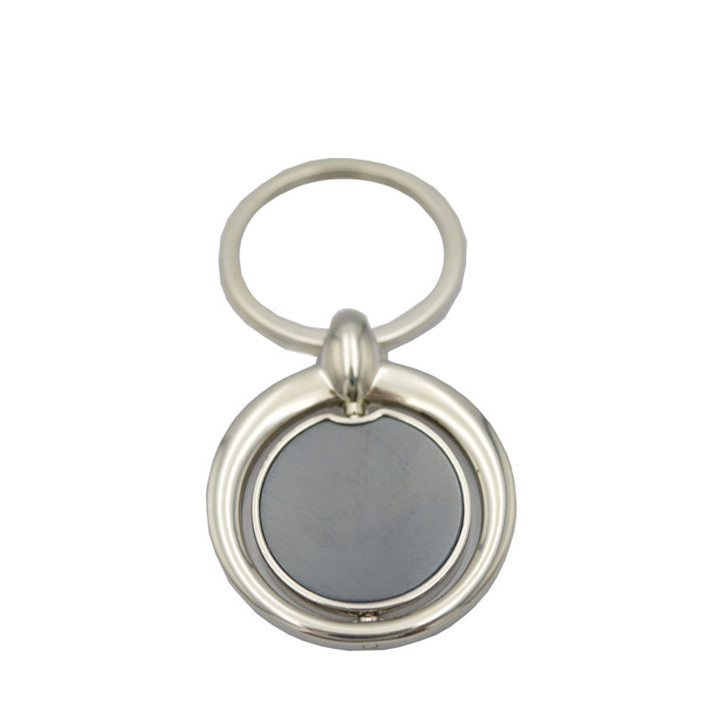 Metal crafts keychain factory sublimation blank metal mini round key ring